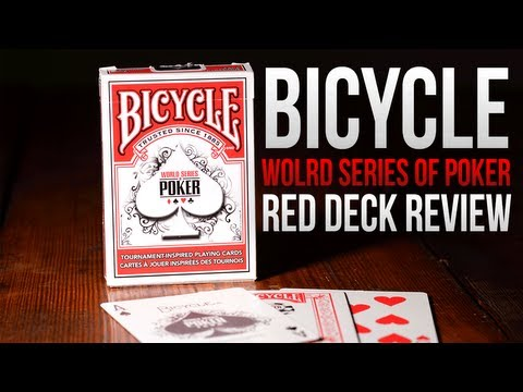 Deck Review - Bicycle World Series Of Poker Deck Red Edition thumbnail