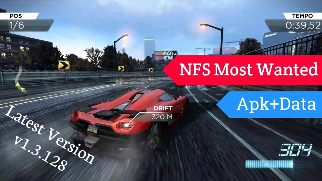 Need for Speed Most Wanted Mod Apk+Obb v1 3 128 | ONLY4GAMERS