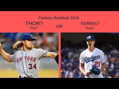 "Noah ""Thor"" Syndergaard or Walker ""Ferris"" Buehler? Fantasy Baseball 2019 Analysis!"