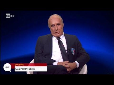 Gian Piero Ventura (Pantani) scettico sul valore della sua Italia - Quelli che il calcio 22/10/2017