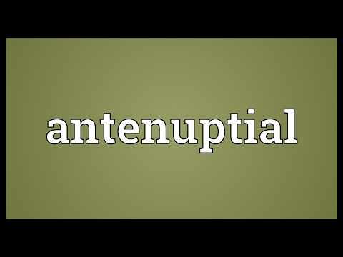 Header of antenuptial