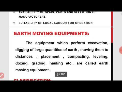 ACT-CONSTRUCTION EQUIPMENT/INTRODUCTION AND SELECTION IN HINDI