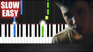 Shawn Mendes - Treat You Better - SLOW EASY Piano Tutorial by PlutaX