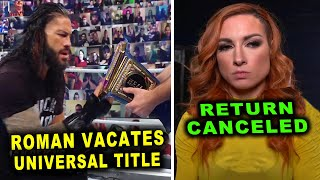 Roman Reigns Vacates Universal Title Becky Lynch Return Canceled WWE News Rumors February 2021