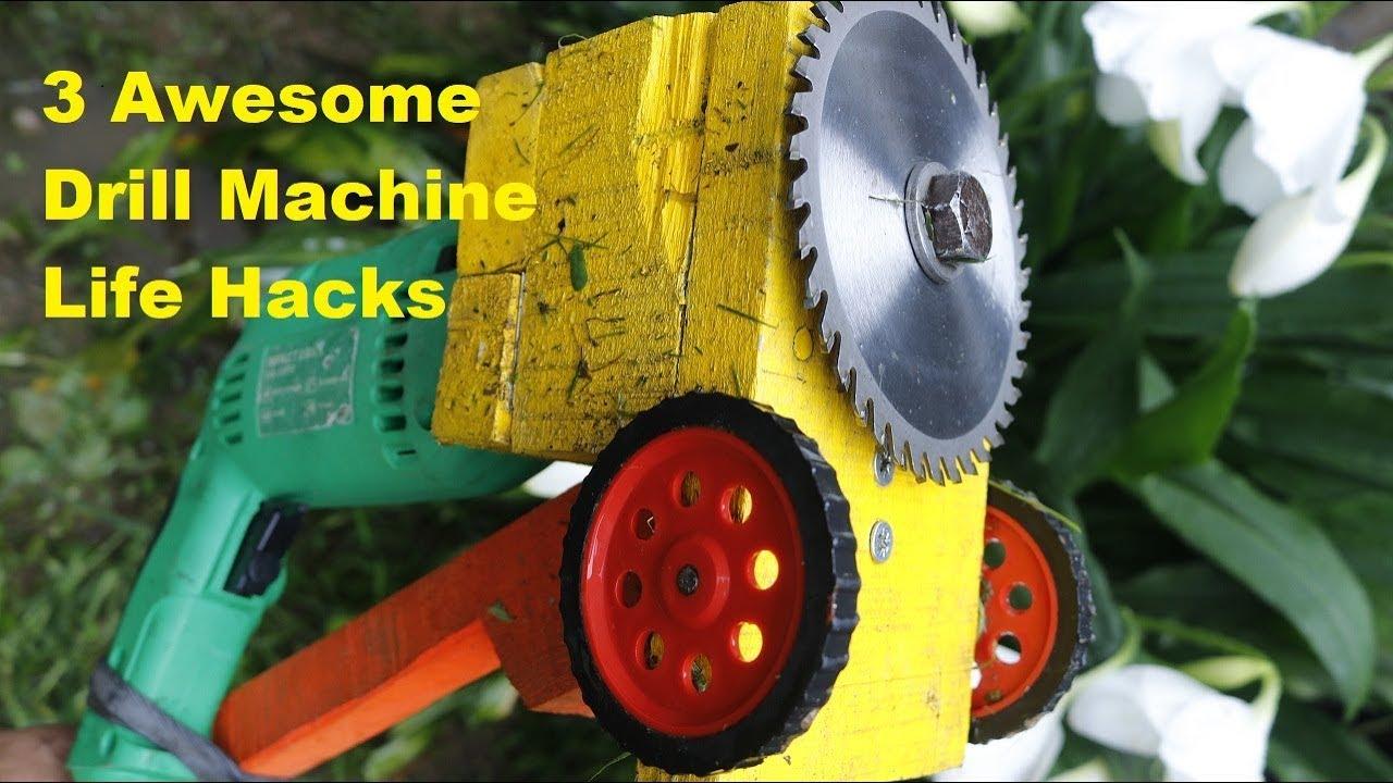 3 Awesome Drill Machine Life Hacks.   | DIY |