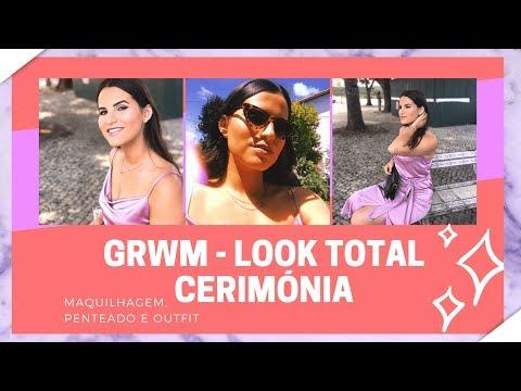 GRWM - LOOK TOTAL DE CERIMÓNIA (Maquilhagem, Penteado e Outfit)   Rafaela & Lúcia thumbnail