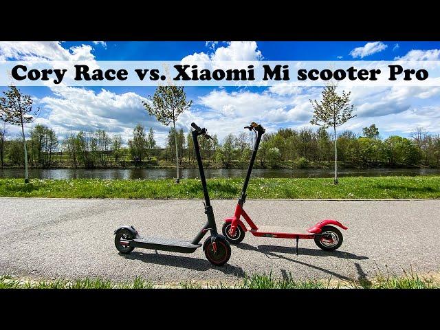 Cory Race vs Xiaomi Mi Scooter Pro - detailní porovnání face to face
