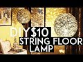 DIY String Pendant Lamp | How To Make Lampshade | $10 | Floor Lamp | Ronak Baliyane