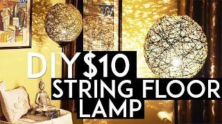 DIY String Pendant Lamp   How To Make Lampshade   $10   Floor Lamp   Ronak Baliyane