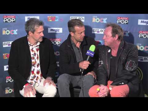 Level 42 being interviewed by Pat Sharp, just before their headline set at Let's Rock The Moor! 2015