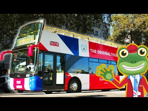 Gecko and The Open Top London Tour Bus | Gecko's Real Vehicles | Double Decker Bus for Children