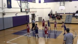 1 10 2014 Peters Township 5th Grade Girls Travel vs Baldwin  First Quarter