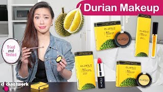 Durian scented makeup?? Shu An tries out a range of durian-inspired...