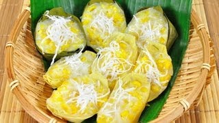 ขนมข้าวโพดหวาน (ขนมไทย)  Kanom Kao Pod Wan