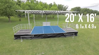 Just Music LTD Cranbrook Stageline SL75 Mobile Stage Promo