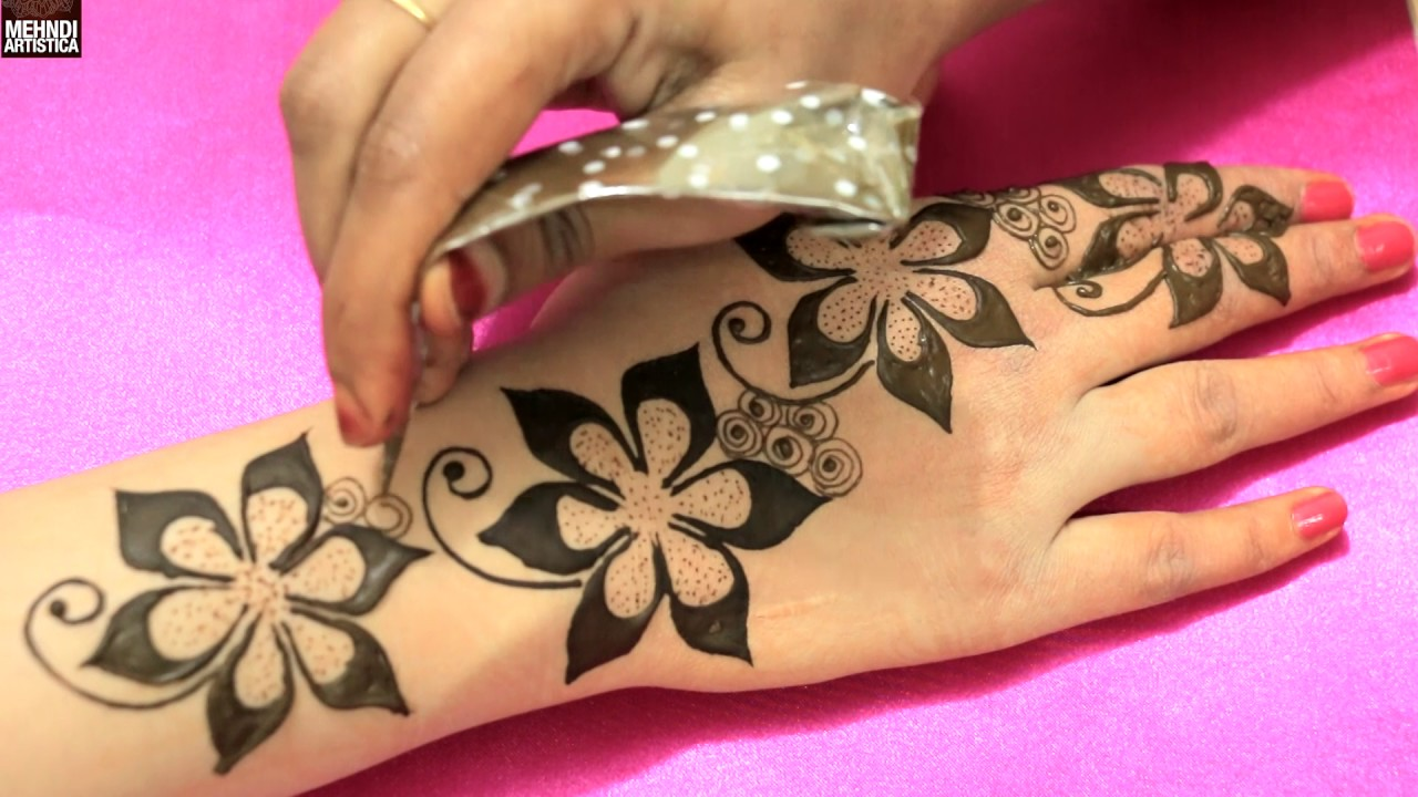 Floral blast mehndi designs for romantic date unique easy for Pictures of designs
