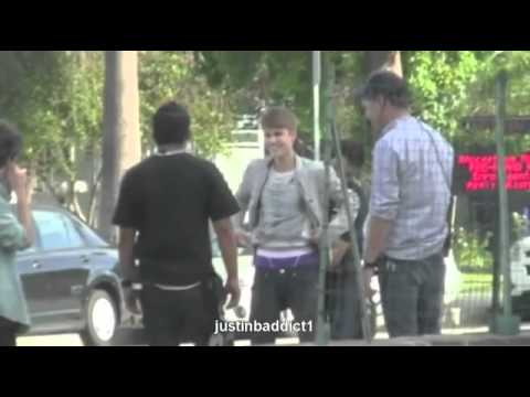 Justin Bieber Fights Kid Twice His Size -- October 2011