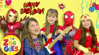 The Zoogies - Happy Birthday | Superhero Party | Spiderman, Ironman, Captain America, Wonder Woman