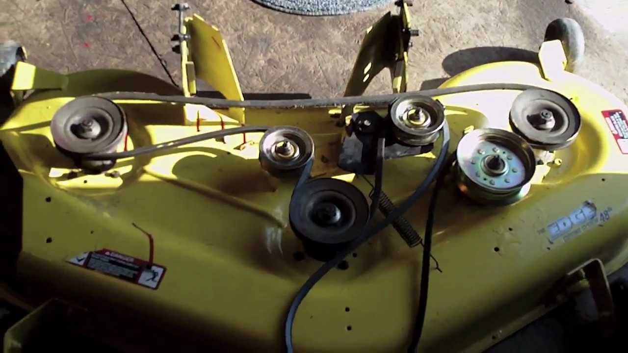 John Deere L120 Deck Rebuild  YouTube