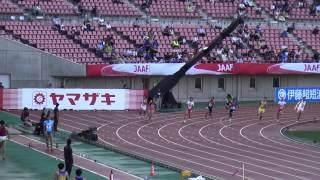 2015日本選手権男子200m決勝 藤光謙司20.32(+0.8) Kenji FUJIMITSU1st Sani Brown20.57 藤光謙司 検索動画 28