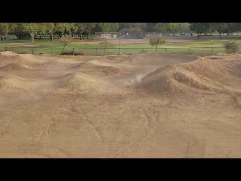 Arrma Kraton bashing at the Elk Grove BMX park