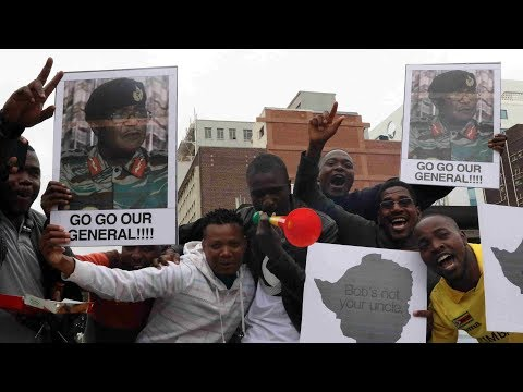 Zimbabweans pour into streets for anti-Mugabe march
