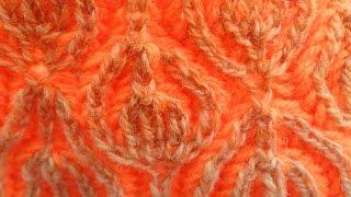 Прибавки и убавки в технике бриошь(knitting technique brioche) (узор#21)