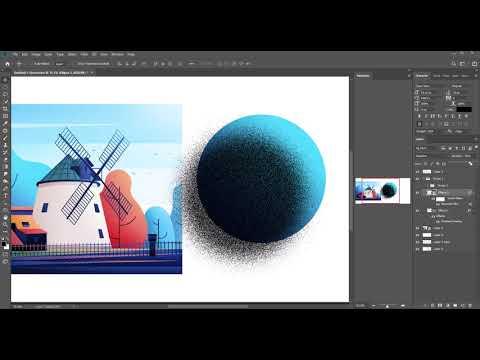 Adobe Photoshop Spray texture Effect Illustration Tutorial thumbnail