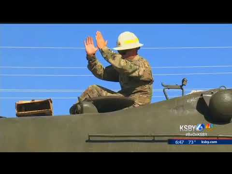 Old Marine Corps tank moved to Camp Roberts museum