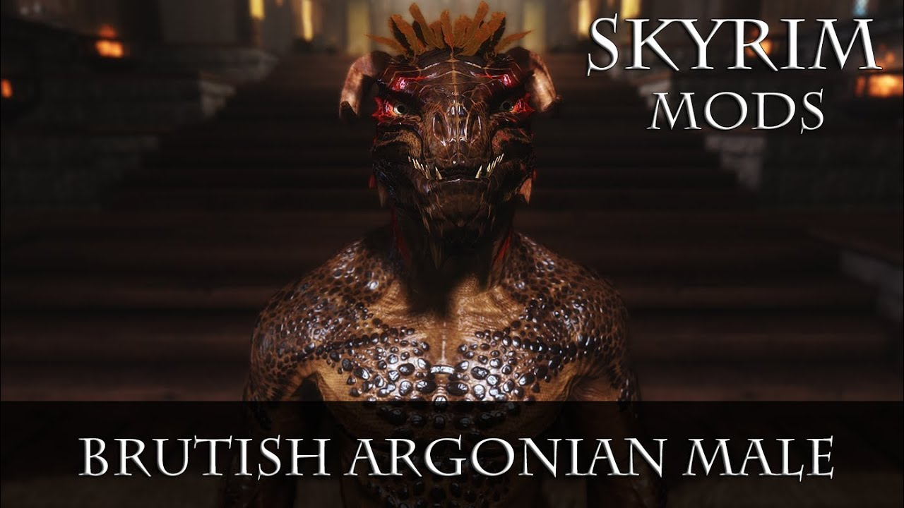 skyrim how to add hair to argonian race