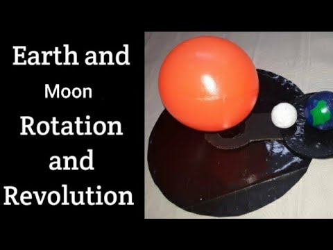 Working Model of Earth's Rotation & Revolution/Earth Moon and Sun model/Kansal creation/sst project