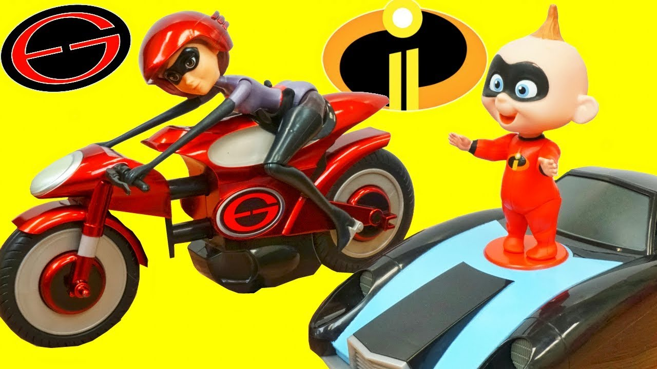 Disney Incredibles 2 Mrs Incredible And Elasticycle Bike Toy