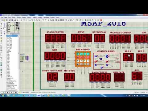 Repeat 8086 µProcessor | Proteus Simulation | 7 Segment & Stepper