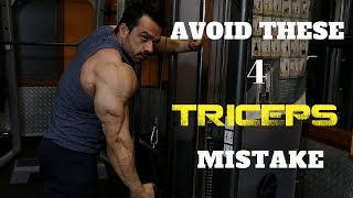 AVOID THESE 4 BIGGEST TRICEP MISTAKES | MAKE THEM GROW