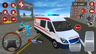 American Emergency Ambulance Van Driving Simulator - Android Gameplay screenshot 5