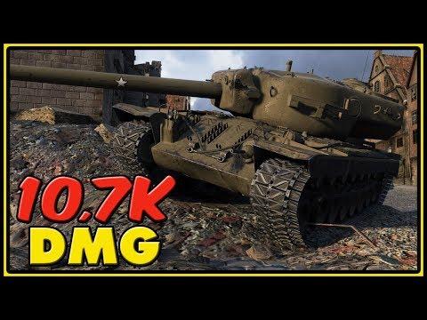 T30 - 10,7K Dmg - World of Tanks Gameplay
