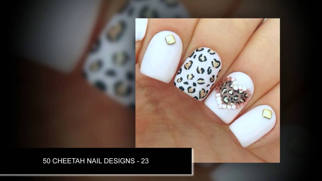 50 Cheetah Nail Art Designs Professional With Jewels Nail Art
