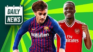On today's daily news - the griezmann saga finally looks to be over, leipzig continue build for future, zaha focus his potential transfer, o...