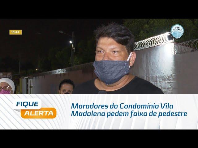 Moradores do Condomínio Vila Madalena pedem faixa de pedestre há 20 anos