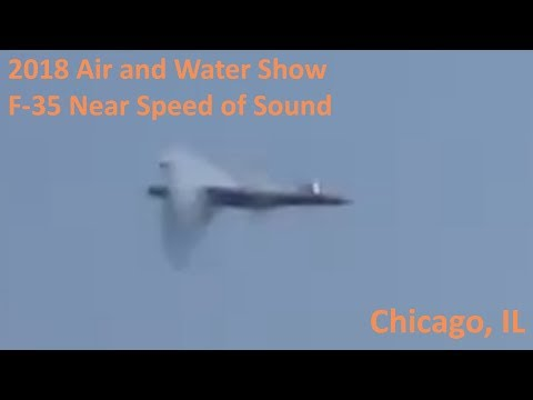 2018 Chicago Air And Water Show - F-35 Near Speed Of Sound