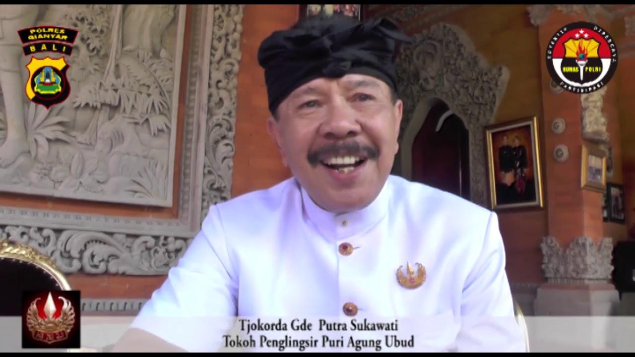 Pernyataan Tokoh Puri Agung Ubud, Tentang Pemilu 2019 - YouTube