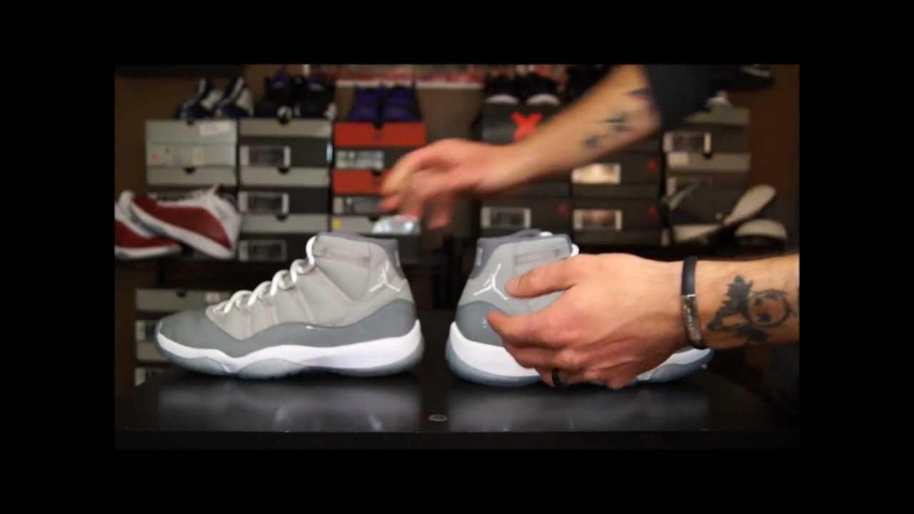 f103f123b60b24 Early Release VS. Retail Release Air Jordan 11 (XI) Cool Grey ...