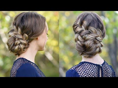 French Braid Updo | Homecoming Hairstyle | Cute Girls Hairstyles
