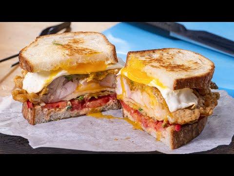 """Три-в-одном. Завтрак, обед и ужин. Сэндвич """"Довольный Муж"""""""