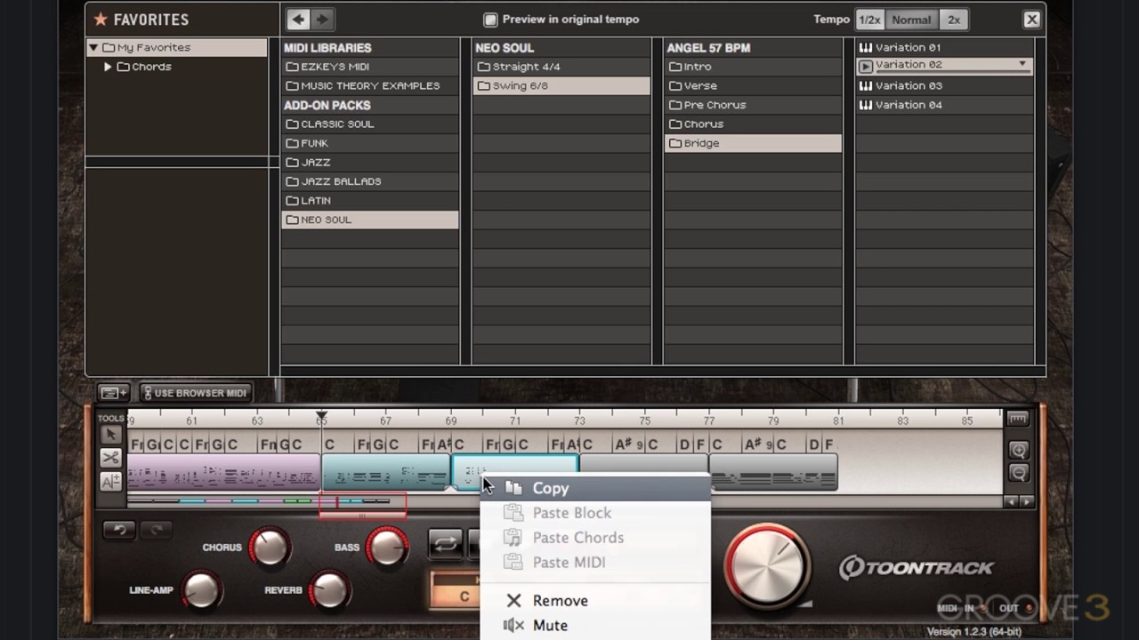 04 Editing EZKeys Song Blocks