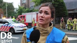 Flinke rookontwikkeling bij grote brand in woning Van Alkemadelaan Den Haag