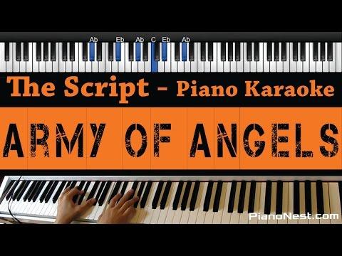The Script - Army Of Angels - Piano Karaoke / Sing Along