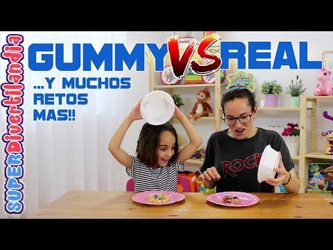 Reto de los Challenges! Gummy VS Real y muchos más en SUPERDivertilandia.