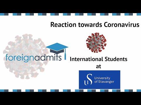 How Coronavirus Will Impact on International Student? Ep 9 (University of Stavanger) [ForeignAdmits]