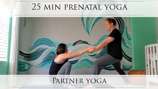 25 Min Prenatal Partner Yoga: A yoga practice for the expecting mother and her birth partner